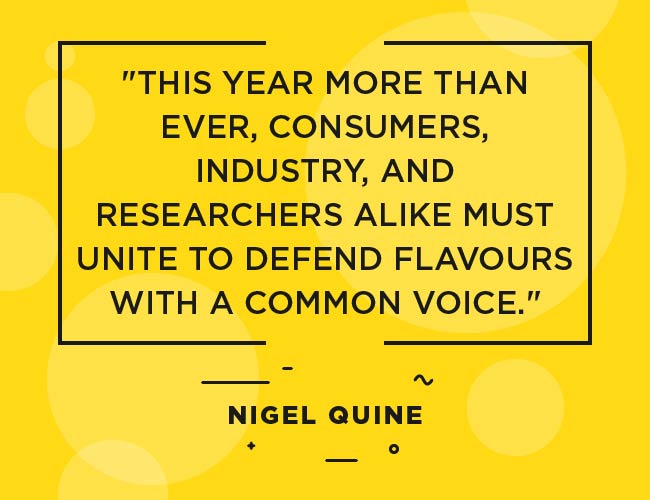 "Nigel Quine, quote: ""This year more than ever, consumers, industry and researchers alike must unite to defend flavours with a common voice."""" width=""650"" height=""500"" srcset=""https://www.ecigarettedirect.co.uk/ashtray-blog/wp-content/uploads/2018/12/2019-Predictions-Quotes-Nigel-Quine-11.jpg 650w, https://www.ecigarettedirect.co.uk/ashtray-blog/wp-content/uploads/2018/12/2019-Predictions-Quotes-Nigel-Quine-11-300x231.jpg 300w"" sizes=""(max-width: 650px) 100vw, 650px"