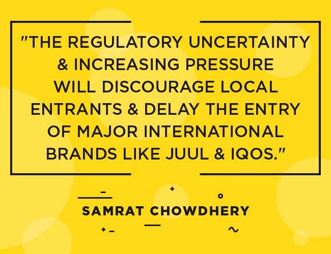 """Samrat Chowdery, citation de Vape India: """"L'incertitude réglementaire et la pression croissante décourageront les entreprises locales et retarderont l'entrée de grandes marques internationales telles que JUUL & IQOS"""" """"width ="""" 650 """"height ="""" 500 """"srcset ="""" https: // www .ecigarettedirect.co.uk / ashtray-blog / wp-content / uploads / 2018/12/2019-Prédictions-Quotes-Samrat-Chowdhery-06.jpg 650w, https://www.ecigarettedirect.co.uk/ashtray- blog / wp-content / uploads / 2018/12/2019-Predictions-Quotes-Samrat-Chowdhery-06-300x231.jpg 300w """"tailles ="""" (largeur maximale: 650px) 100vw, 650px"""