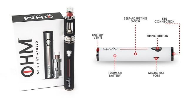 Apollo Ohm Go - Meilleurs stylos Vape pour 2016