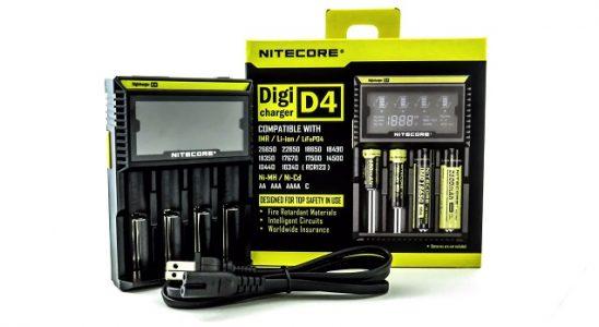 Nitecore D4 - Meilleur chargeur de batterie Vape