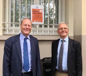 """""""Espaces sans tabac"""" de la Ligue contre le Cancer à Paris"""