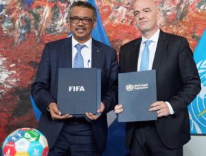 L'OMS et la FIFA travaillent ensemble pour des compétitions et des stades sans tabac