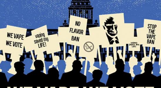 Vapeurs de protestation contre l'interdiction des arômes