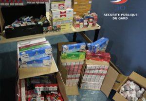 Nîmes: matériel de chicha ... tabac de contrebande
