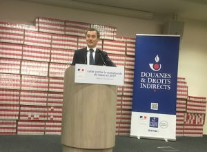"""Bilan douanier 2019: """"cette mission prioritaire qui est la lutte contre tout le commerce du tabac"""" (Gérald Darmanin)"""