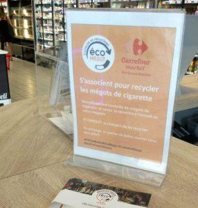 Butts: résultats d'une opération de test Carrefour en Ile-de-France