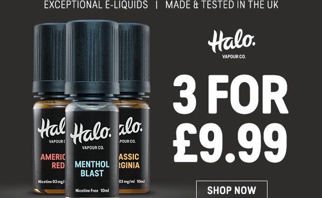 E-liquide Halo - 3 pour 9,99