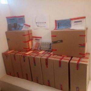 Aisne: pas très discrètes, ces boites remplies de contrebande