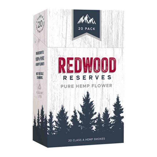 Paquet de cigarettes Redwood Reserves Fleur de chanvre
