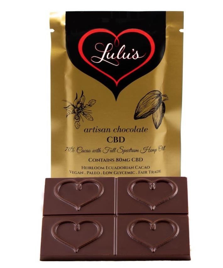 Chocolat CBD à spectre complet de Lulu