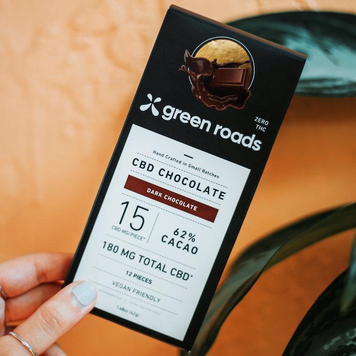 Chocolat noir CBD par Green Roads