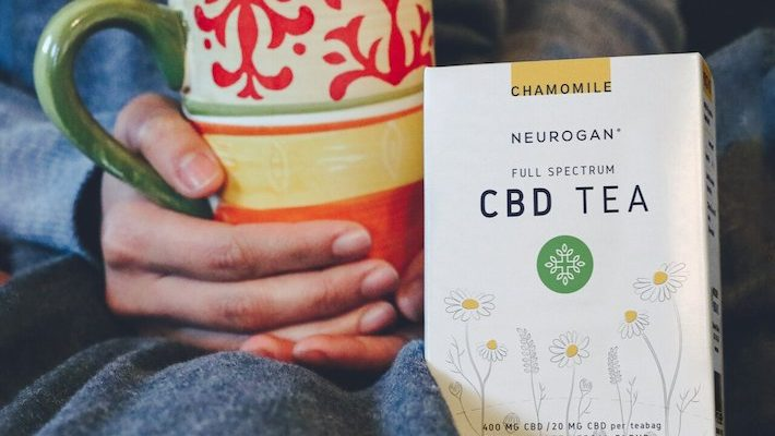 Boire du thé au CBD à spectre complet de chanvre