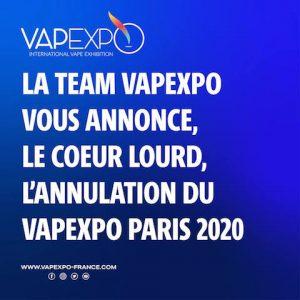 Vapexpo Paris: annulation de la 13e édition