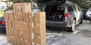 De retour d'Andorre: la camionnette remplie de paquets de cigarettes ne fait pas exception à une opération conjointe franco-andorrane