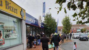 Réaménagement / achats aux frontières: de nombreuses personnes en Belgique