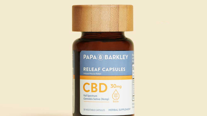 Capsules de CBD par Papa Barkley