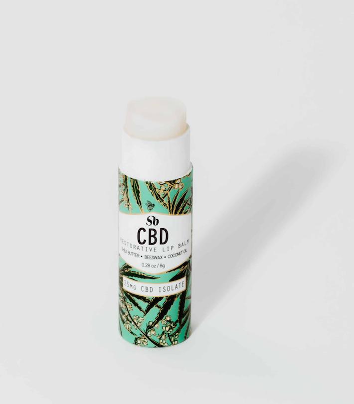 Baume à lèvres isolat au CBD