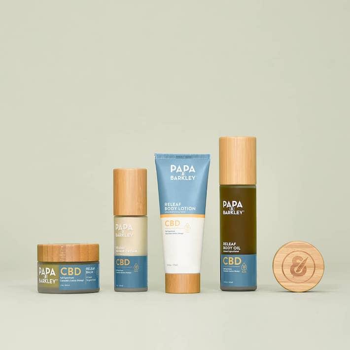 Crème produit CBD, lotion, pommade, huile corporelle