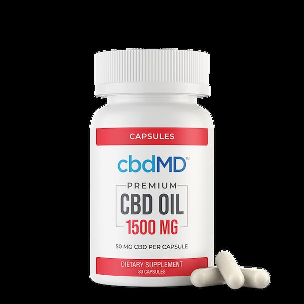 Capsules d'huile CBD cbdMD