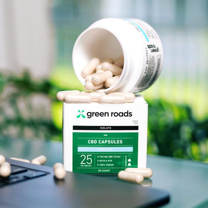 Extrait d'isolat de capsules de CBD Relax