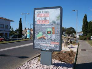 Mégots de cigarettes: encourager l'utilisation de cendriers de poche ou publics à Juvignac