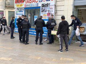 Montpellier: grande opération de police de rue vendant du tabac de contrebande